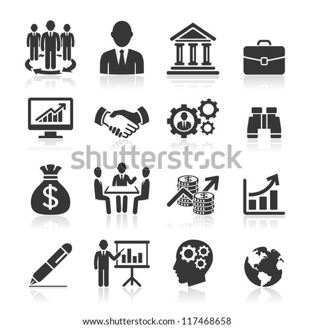 Business icons, management and human resources set1. vector eps 10. More icons in my portfolio.