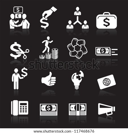 Business icons, management and human resources set7. vector eps 10. More icons in my portfolio. - stock vector
