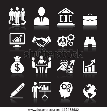 Business icons, management and human resources set1. vector eps 10. More icons in my portfolio. - stock vector