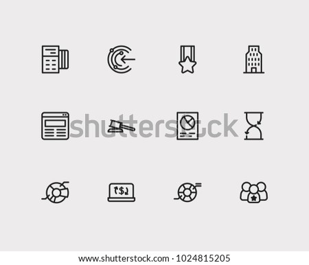 Business icons set credit card business stock vector 1024815205 business icons set credit card and business icons with proactive leadership and law reheart Images