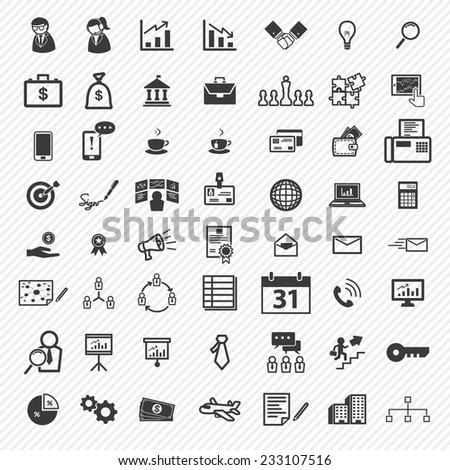 Business icons set. illustration eps10 - stock vector