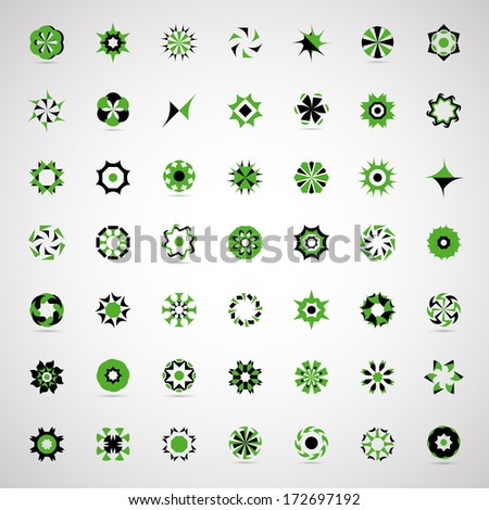 Business Icons Set - Isolated On Gray Background - Vector Illustration, Graphic Design Editable For Your Design. New Icons - stock vector