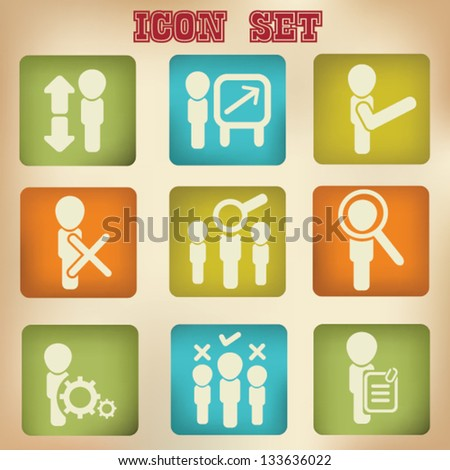 Business Icons,vector - stock vector