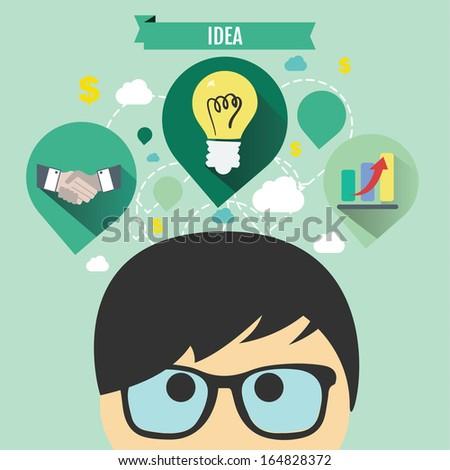 Business idea concept - stock vector