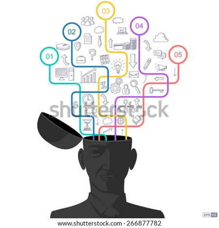 Business Idea, Creativity, Innovation or Uniqueness - stock vector