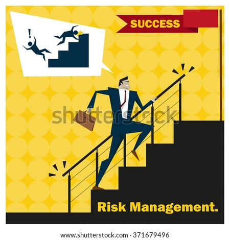 Business Idea series Risk Management concept 2,vector,illustration - stock vector