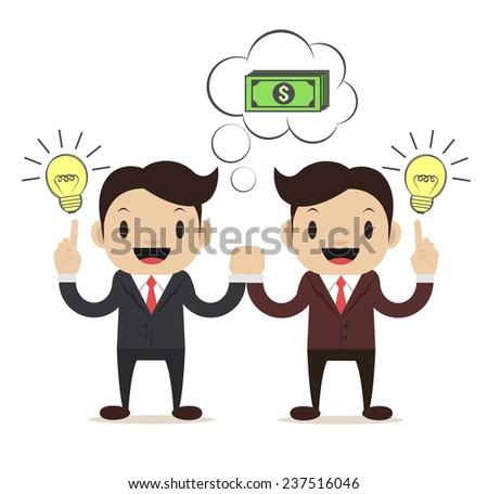 Business Idea. Vector flat illustration - stock vector