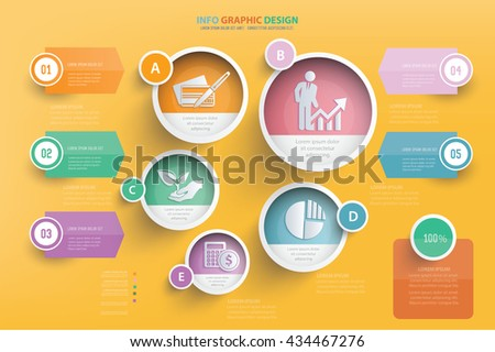 Business info graphic design,vector - stock vector