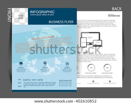 business info graphic flyer