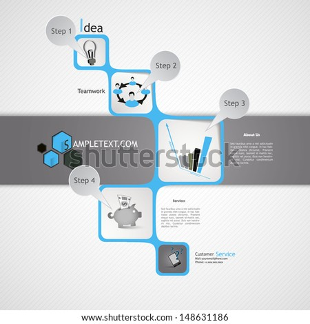 Business Infographic Design - stock vector