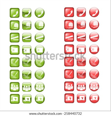 business infographic elements, set isolated vector icon. - stock vector