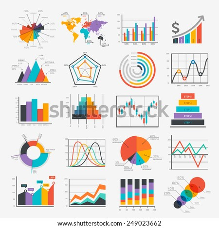 Business Infographic icons. Vector illustration. can be used for workflow layout, banner, diagram, number options, web design, timeline template. - stock vector