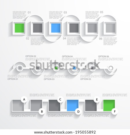 Business infographic set, template for your presentation - stock vector