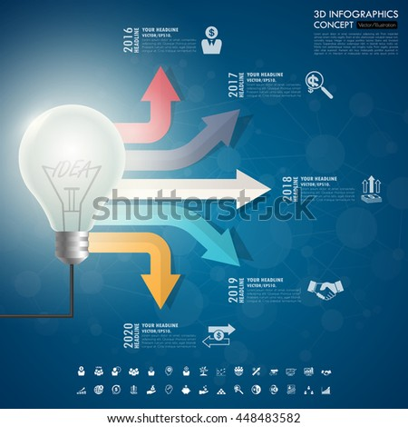 business Infographic Template. Data Visualization. Can be used for workflow layout, number of options, steps, diagram, graph, presentation, chart and web design. Vector illustration. - stock vector