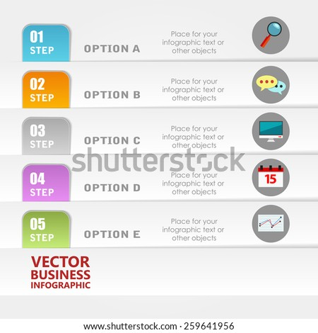 Business infographic template. Vector illustration. Can be used for layout, banner, diagram, web design.
