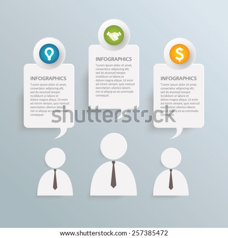 Business infographic vector template - stock vector