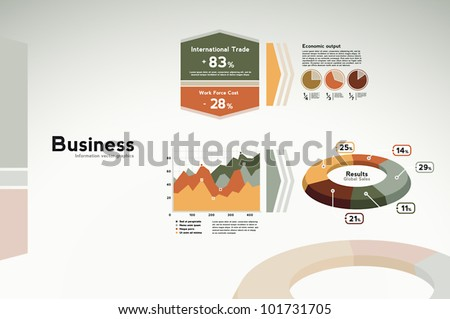 Business infographics data - graphs, charts and statistics for presentation, reports, etc.