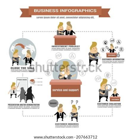 Business infographics,investment concept - stock vector