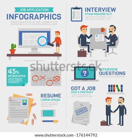 Business Infographics ,Job Application - stock vector
