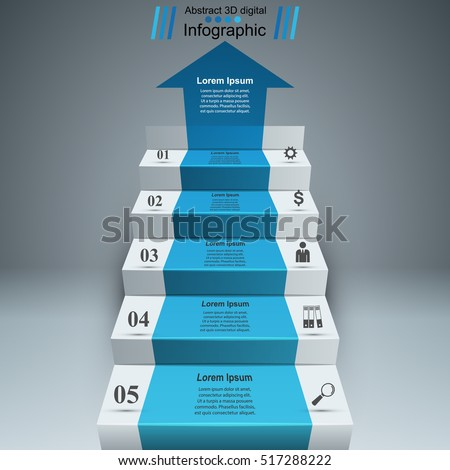 Business Infographics Up The Ladder To Success