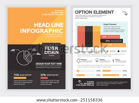 Business Infographics Vector Design Template , Report , Flyer and Brochure Template , Infographics Element , Layout Design , Fully Layered Design / Vector illustration - stock vector
