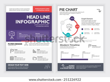 Business Infographics Vector Design Template , Report , Flyer and Brochure Template , Infographics Element , Layout Design , Fully Layered Design / Vector illustration
