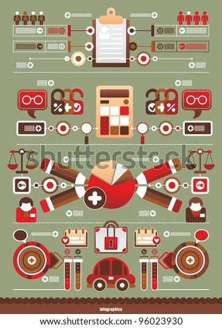 business interesting infographics - stock vector
