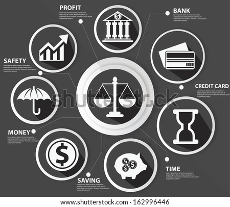 Business,Law and finance concept,Abstract,Black version,vector - stock vector