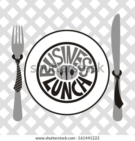 Business lunch vector illustration