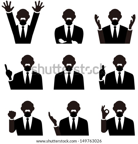 business man - stock vector