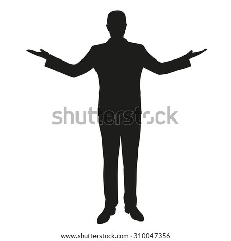 Business man comparing. Outspread - stock vector