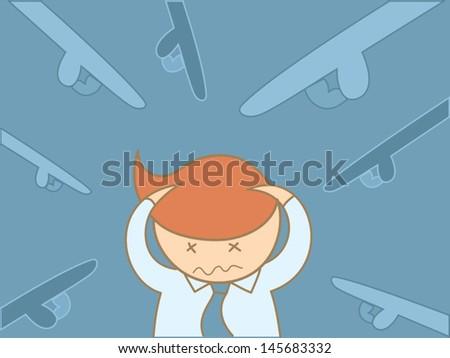 business man headache overloaded - stock vector