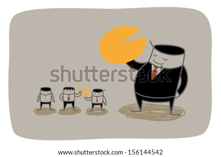 business man monopoly market share concept - stock vector