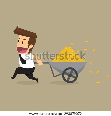 business man of wealth. vector - stock vector