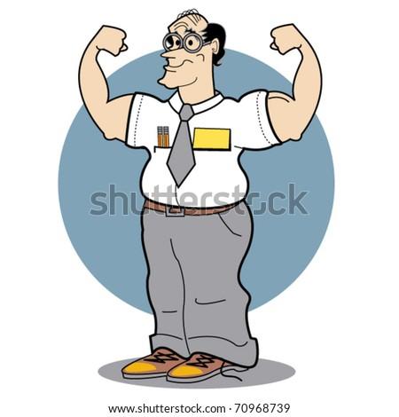 Muscle Office Worker wichsen