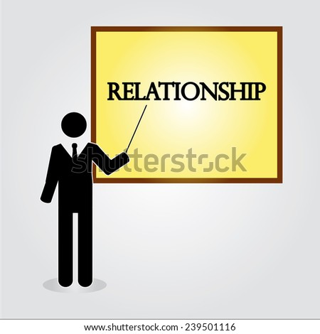 business man point to  relationship ,relationship concept - stock vector