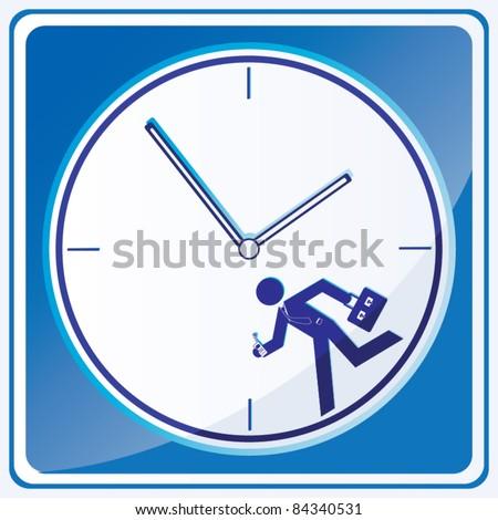 Business man running icon vector - stock vector