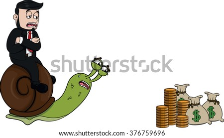 Business man slow - stock vector