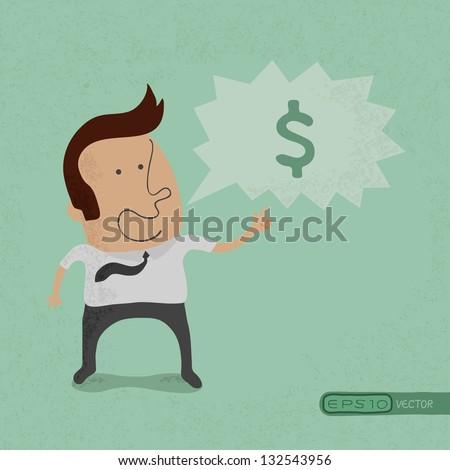 Business man speak , eps10 vector format - stock vector