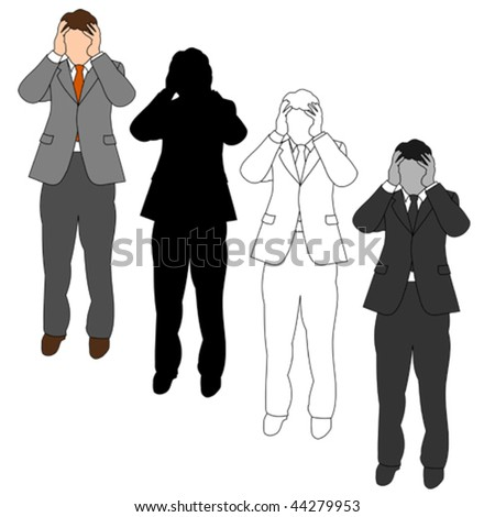 Business Man Style Set 06 - stock vector