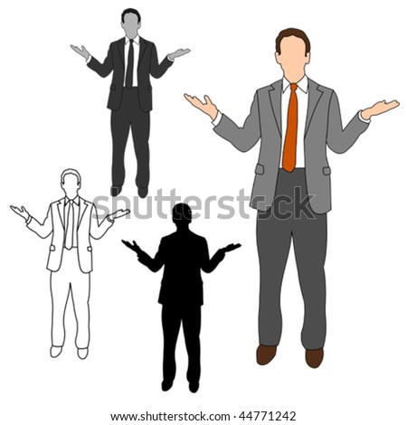 Business Man Style Set 08 - stock vector