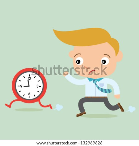 business man time - stock vector