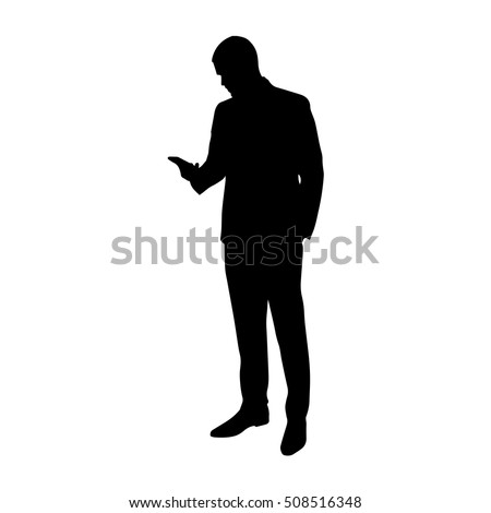 Business Man Cell Phone His Hand Stock Vector 508516348 ...