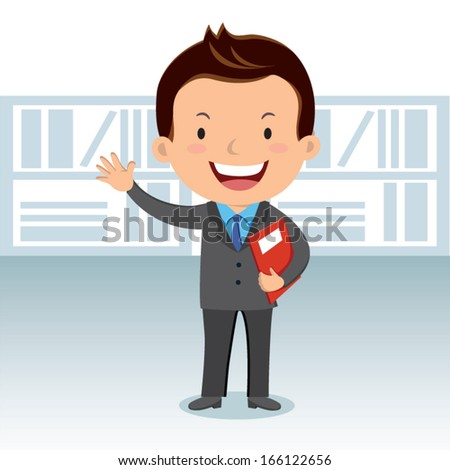 Business man with success report - stock vector