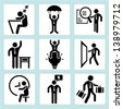 business management concept and human resource concept icons, people set - stock photo