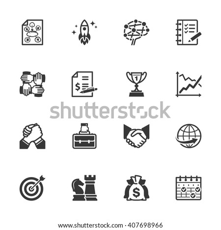 Business Management Icons - Set 4  - stock vector