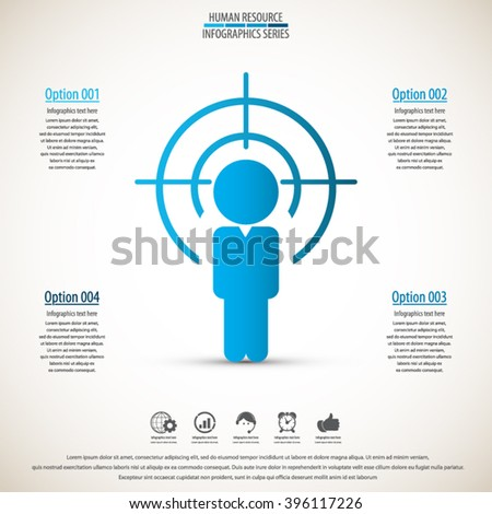 Business management, strategy or human resource infographic. EPS 10 vector. Can be used for any project - stock vector