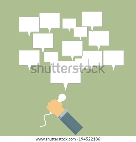 Business marketing promotion illustration - stock vector