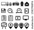 Business marketing social media icon set - stock vector