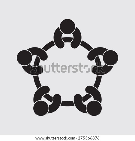 business meeting planning conference teamwork working brainstorming discussion session seminar   - stock vector